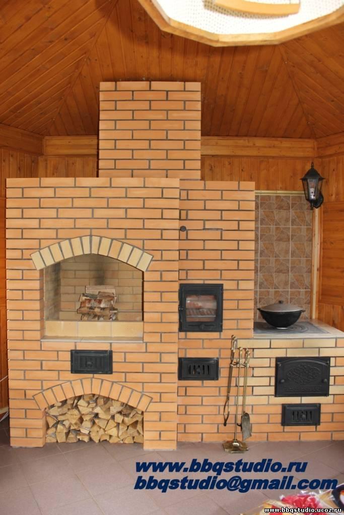 Печка для кухни своими руками из кирпича